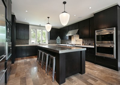 Classic dark wood kitchen design