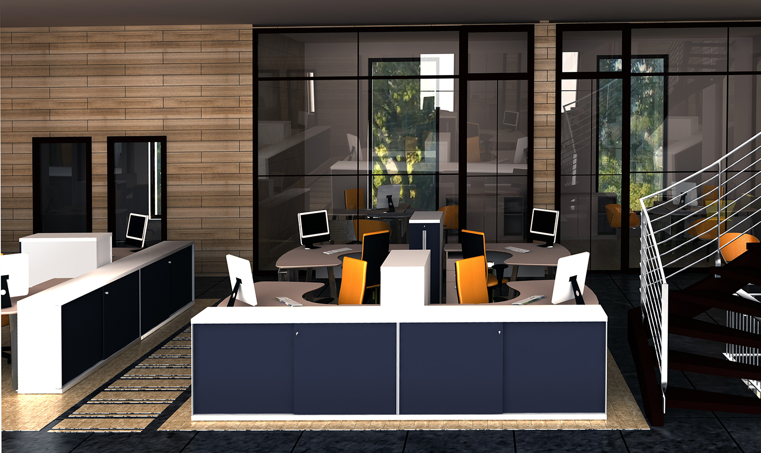 Portfolio modern interior design office renovation for Office design trends articles